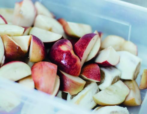 préparation des recettes pomme